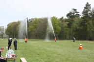 Löschangriff nass der Meseberger Frauengruppe